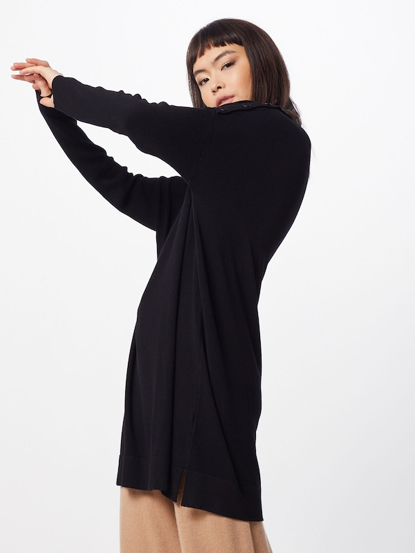 MORE & MORE Pullover 'Oversize Boxy' in schwarz, Modelansicht