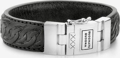 Buddha to Buddha Armband in schwarz / silber, Produktansicht