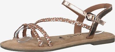 TAMARIS Sandale in gold / rosé, Produktansicht