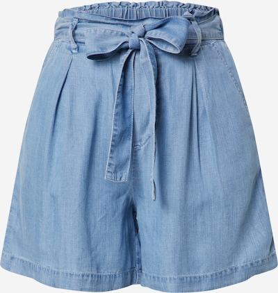ESPRIT Bandplooi jeans in de kleur Lichtblauw, Productweergave