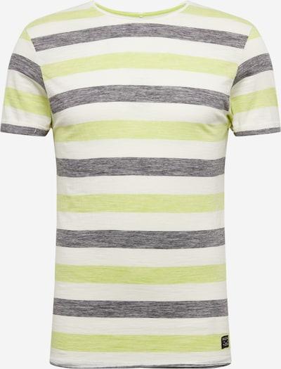 BLEND Shirt in de kleur Beige / Grijs / Limoen, Productweergave