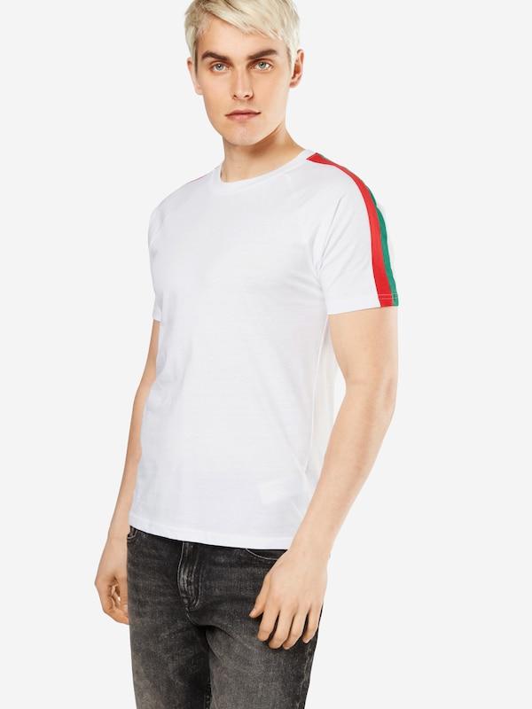 T-shirt Classique Urbain t Rayé Épaule Raglan Tee