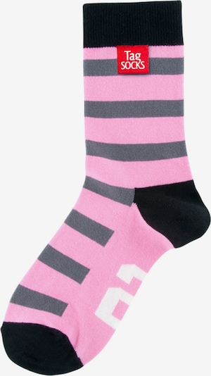 Tag SOCKS Socken in grau / pink / schwarz / weiß, Produktansicht