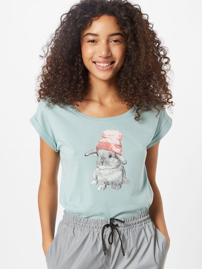 Iriedaily Koszulka 'It Hasi' w kolorze jasnoniebieskim: Widok z przodu