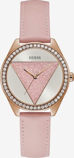 GUESS Analoog horloge in de kleur Rose-goud / Oudroze / Wit, Productweergave