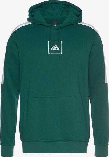 ADIDAS PERFORMANCE Kapuzensweatshirt in grün / weiß, Produktansicht