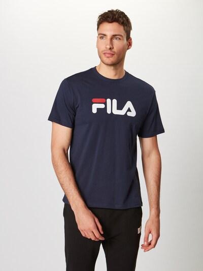 FILA Shirt 'PURE' in dunkelblau / weiß: Frontalansicht