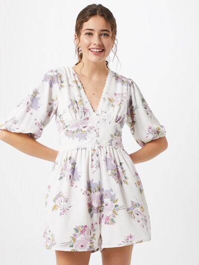 GLAMOROUS Kleid in rosa / weiß, Modelansicht