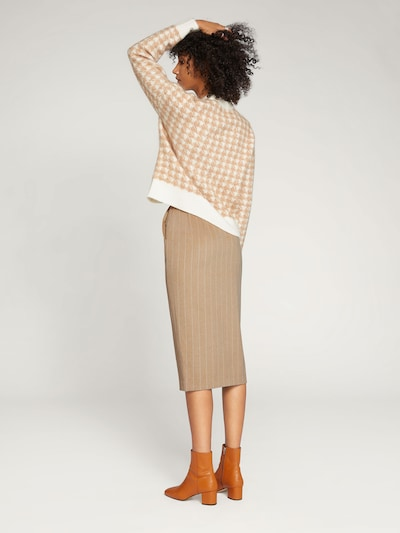EDITED Spódnica 'Nova' w kolorze kremowy / białym: Widok od tyłu