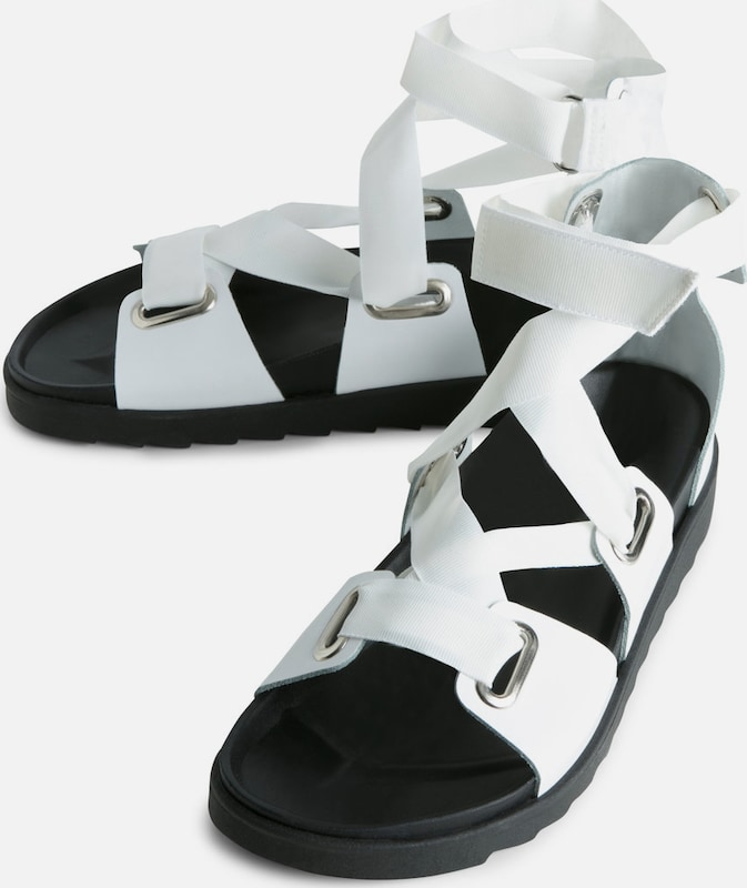 Pieces Open Leather Sandals