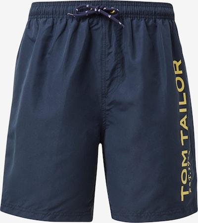 TOM TAILOR Badeshorts i navy / gul, Produktvisning
