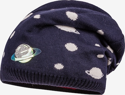 MAXIMO Mütze in marine / naturweiß, Produktansicht