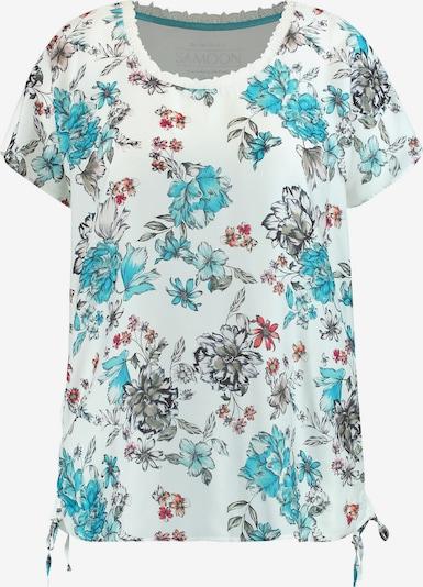 SAMOON T-Shirt in mischfarben / weiß, Produktansicht