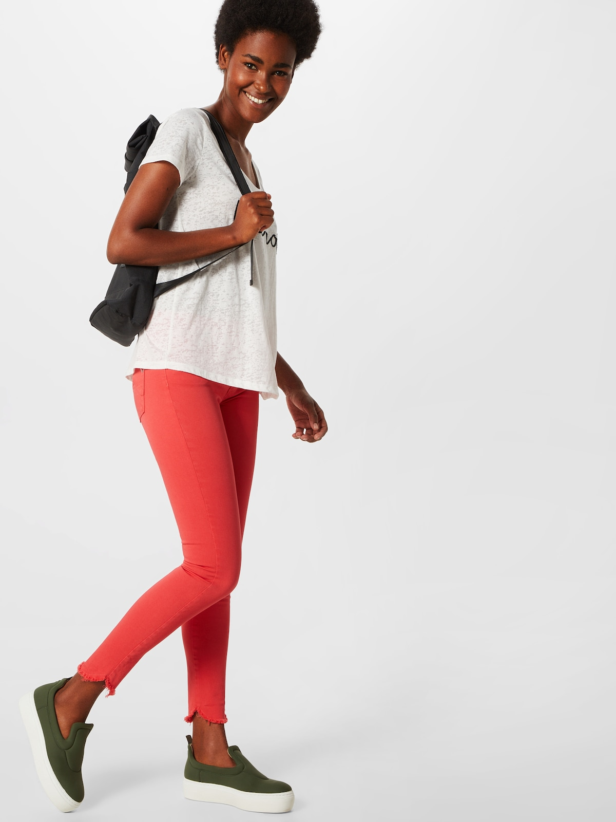 Beliebt Frauen Bekleidung PLEASE Jeans in rot Zum Verkauf