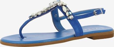 EVITA Sandale 'OLIMPIA' in blau: Frontalansicht