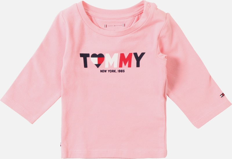 TOMMY HILFIGER Shirt 'BABY GIRL TOMMY TEE L/S' in pink: Frontalansicht