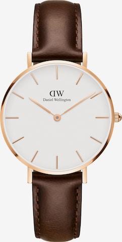Daniel Wellington Analog Watch 'Classic Petite Bristol DW00100171' in Brown