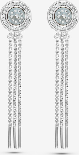 JETTE Ohrhänger in silber / perlweiß, Produktansicht