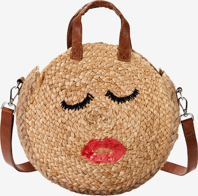 Crickit Shopper 'Palma' in braun / rot, Produktansicht