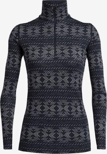 Icebreaker Sportief sweatshirt 'Crystalline' in de kleur Grijs / Zwart, Productweergave