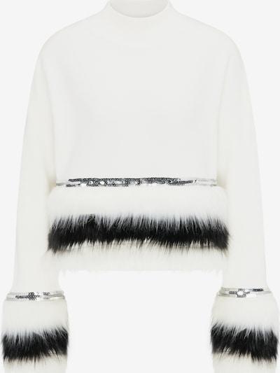 faina Pullover in schwarz / weiß, Produktansicht