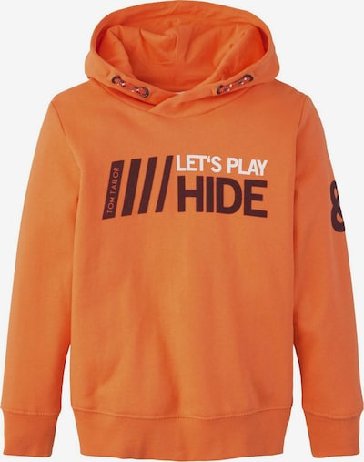 TOM TAILOR Strick & Sweatshirts Hoodie mit Print in orange, Produktansicht