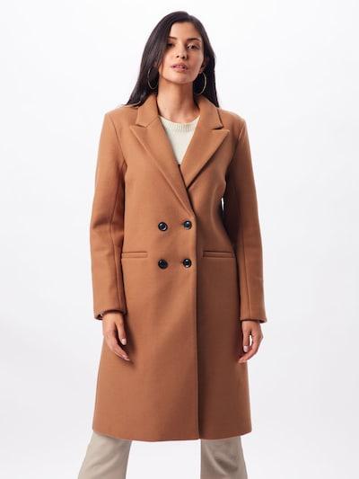 Rudeninis-žieminis paltas 'OBJLINA COAT 104' iš OBJECT , spalva - smėlio: Vaizdas iš priekio