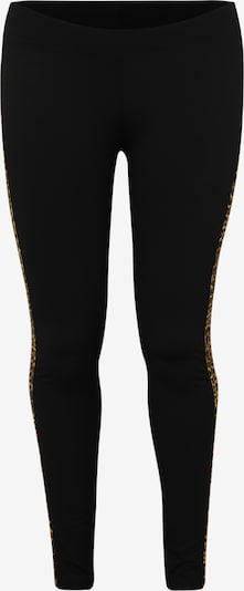 Urban Classics Curvy Legíny 'Ladies Side Striped Pattern Leggings' - hnedé / čierna, Produkt