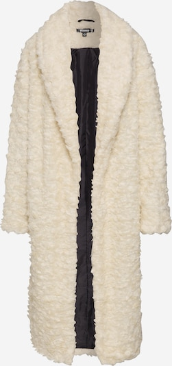 Missguided Mantel 'CURLY BORG SHAWL COLLAR' in creme, Produktansicht