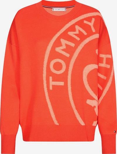 TOMMY HILFIGER Rundhalspullover in orange, Produktansicht