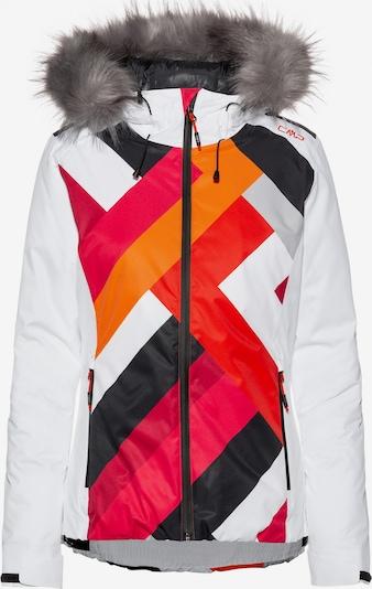 CMP Skijacke in dunkelorange / hellrot / schwarz / weiß, Produktansicht