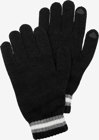 s.Oliver Handschuhe in grau / schwarz / weiß, Produktansicht