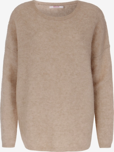 BLOOM Trui 'OVERSIZE BOAT NECK' in de kleur Beige, Productweergave