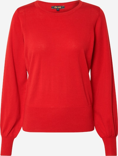 King Louie Pullover 'Bell Top Cottonclub' in feuerrot, Produktansicht