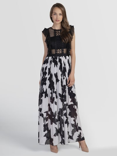 APART Společenské šaty - krémová / černá, Model/ka