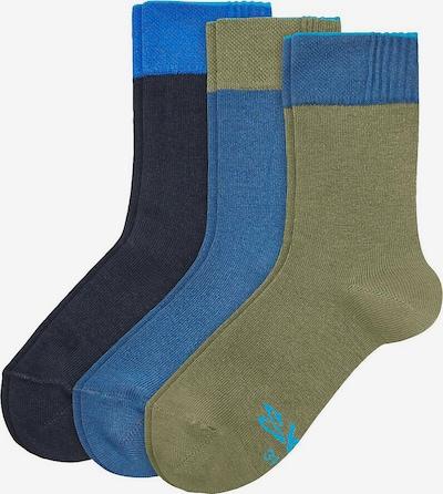 SKECHERS Socken in nachtblau / himmelblau / oliv, Produktansicht