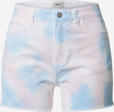 ONLY Shorts 'EMILY' in blau / rosa, Produktansicht