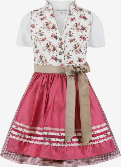 STOCKERPOINT Kleid 'Lisa' in hellbeige / mischfarben / rot / weiß, Produktansicht