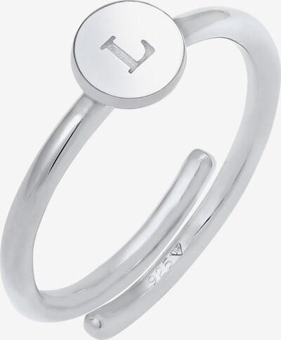 ELLI Ring in de kleur Zilver: Vooraanzicht