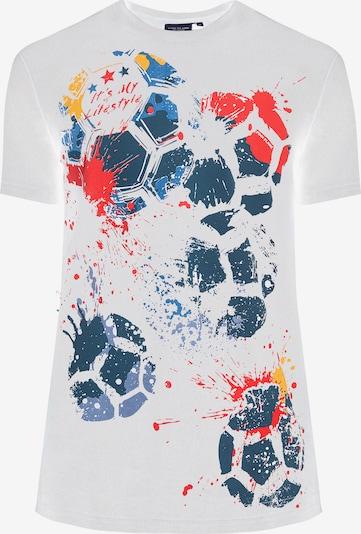 Finn Flare T-Shirt in mischfarben / weiß: Frontalansicht