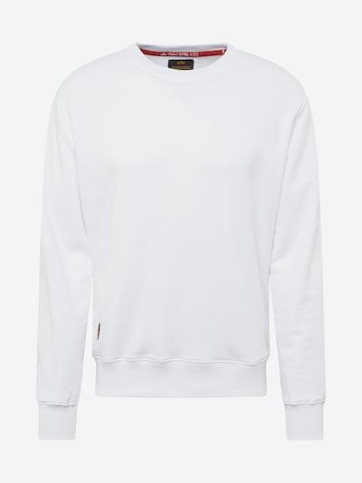 ALPHA INDUSTRIES Sweat-shirt en rouge / blanc: Vue de face