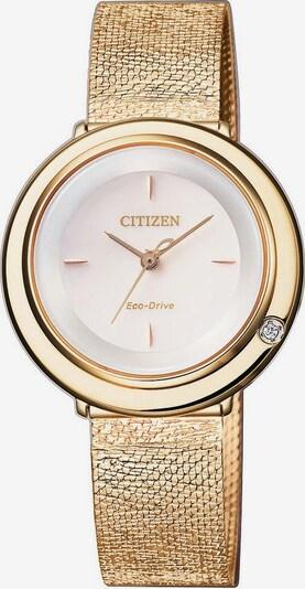 CITIZEN Uhr 'EM0643-84X' in gold / weiß, Produktansicht