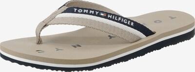 TOMMY HILFIGER Badeschuhe in navy / hellbraun / weiß, Produktansicht