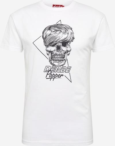 Derbe T-Shirt 'Popper' in schwarz / weiß, Produktansicht