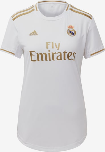 ADIDAS PERFORMANCE Trikot 'Real Madrid' in gold / weiß, Produktansicht