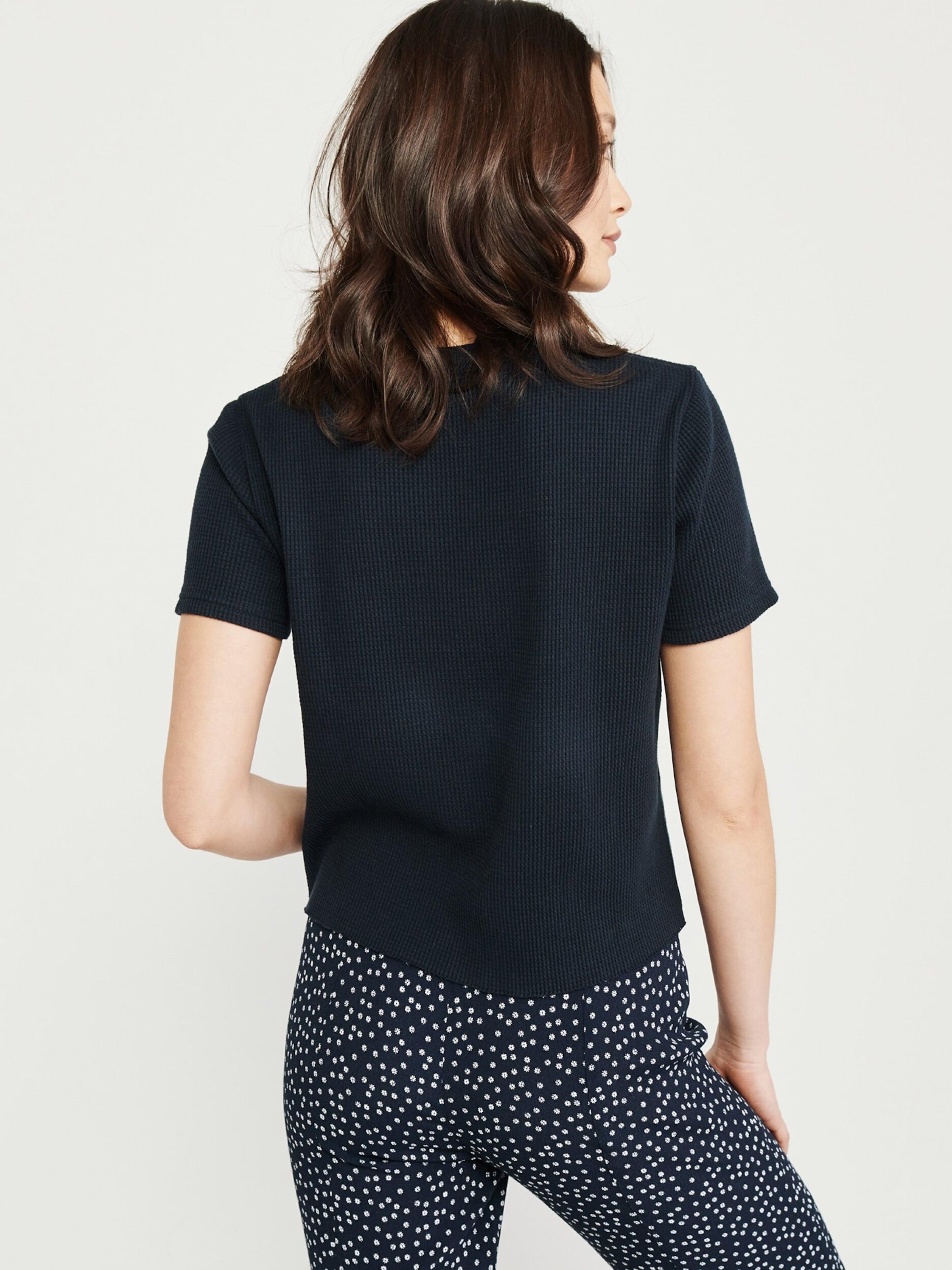 Logo 'waffle Abercrombieamp; shirt Tee' MarineBlanc Fitch En T Bleu rxedBCo