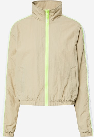 Urban Classics Kurtka przejściowa w kolorze beżowy / neonowa zieleń / białym, Podgląd produktu