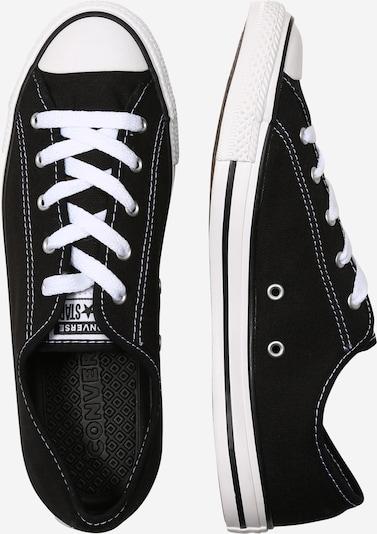 CONVERSE Zemie apavi 'Chuck Taylor All Star' pieejami melns / balts: Sānskats