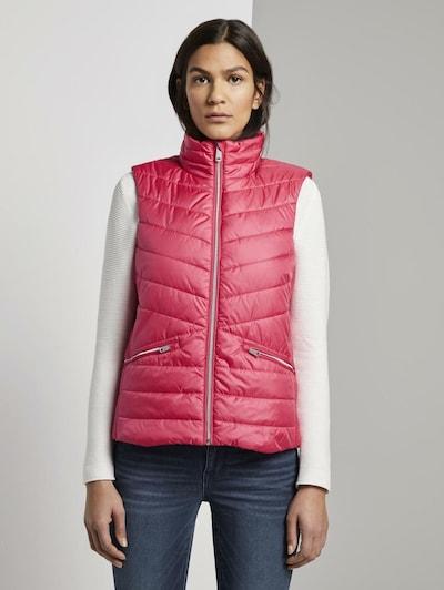 TOM TAILOR Weste in pink, Modelansicht