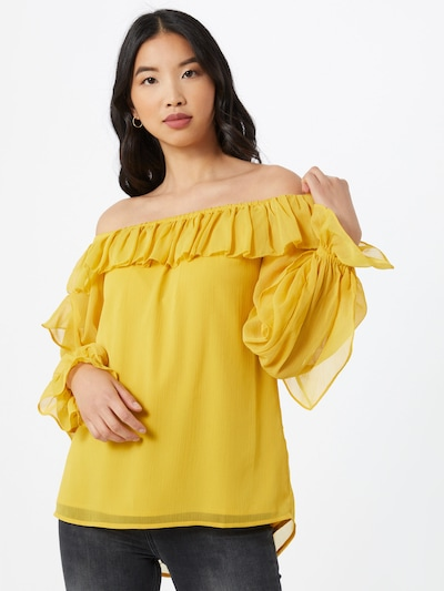 River Island T-shirt 'Bardot' en jaune: Vue de face
